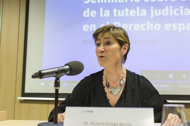 Victoria Ortega, presidenta  Consejo General de la Abogacía Española jonada UNIR