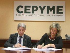 Cepyme-Aragón y Mapfre impulsan la contratación de desempleados