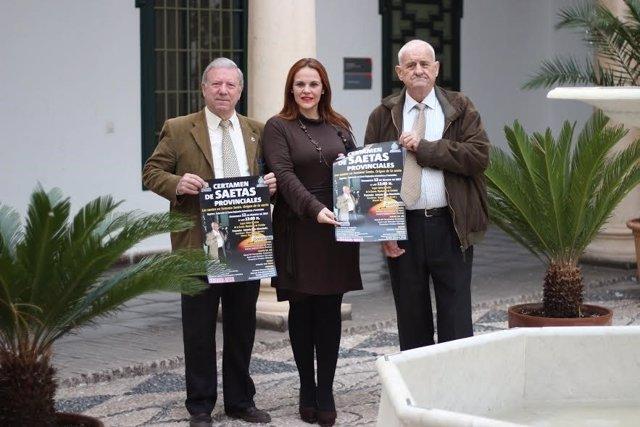 Barbero presenta el cartel del Certamen de Saetas Provinciales