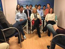 """Mercedes Fernández (PP), con """"ilusión a raudales"""" un día antes de la votación de los afiliados inscritos"""
