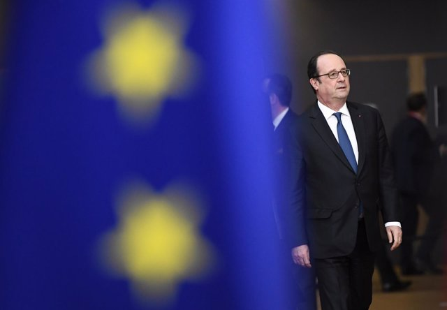 François Hollande en Bruselas