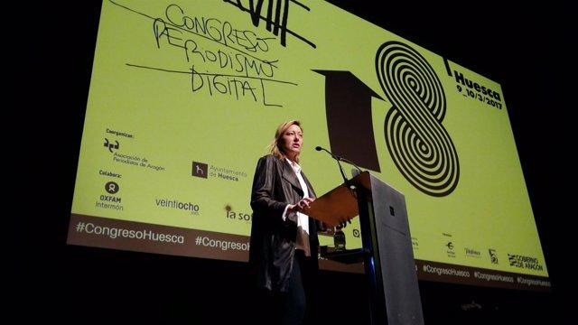 Marta Gastón inaugura el XVIII Congreso de Periodismo Digital.