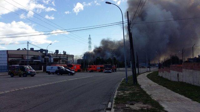 Imagen del incendio de Paterna
