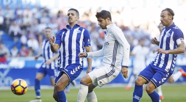 Zouhair Feddal Álvaro Morata Alexis Ruano Real Madrid Alavés
