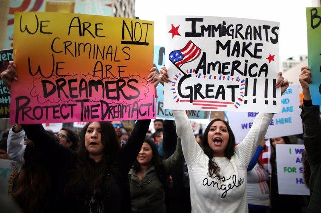 Protesta de inmigrantes en Estados Unidos