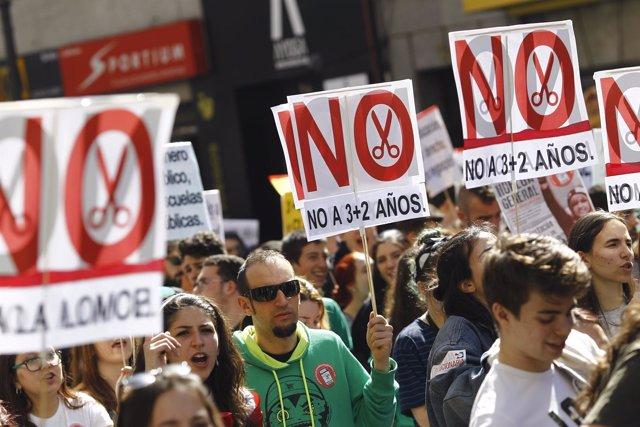 Huelga educativa en Madrid del jueves 9 de marzo