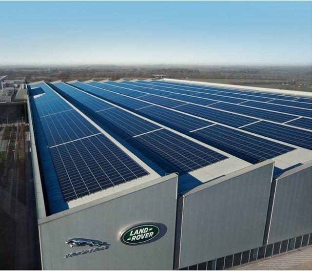 Paneles solares de Jaguar Land Rover