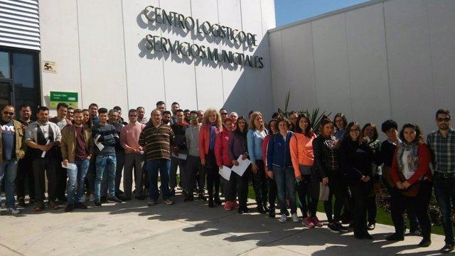 Bienvenida a los trabajadores en Castilleja.