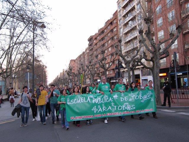 Manifestación Huelga Educación