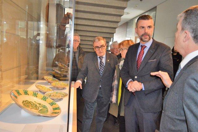 Santi Vila y Àngel Ros  en el Museu de Lleida