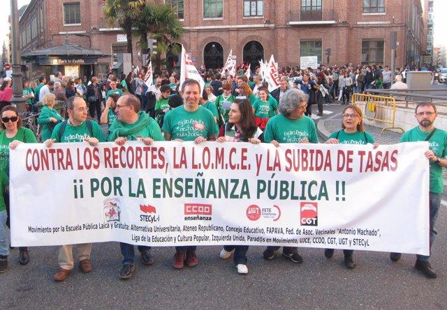 Valladolid.- Cabeza de la manifestación
