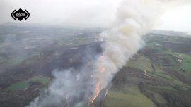 Asturias registra diez incendios forestales a causa de las altas temperaturas