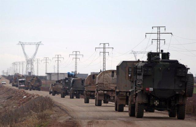 Vehículos militares de Turquía en Siria
