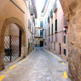 """ARCA tilda las líneas amarillas en la calle Almudaina de """"desagradables e innecesarias"""""""