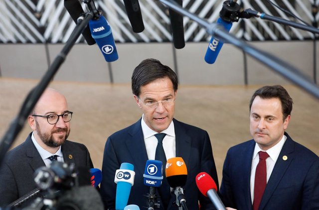 Charles Michel, Mark Rutte y Xavier Bettel
