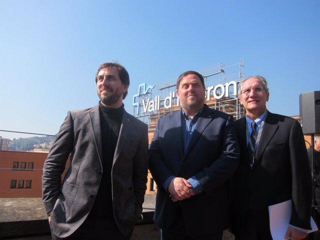 Toni Comín, Oriol Junqueras y Vicenç Martínez Ibáñez