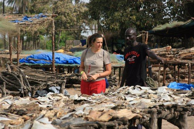 Alejandra Escalada, cooperante de Manos Unidas en Senegal