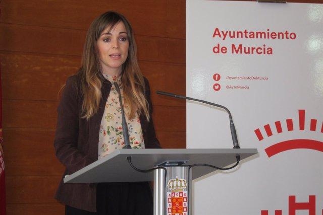 La Portavoz De Gobierno, Rebeca Pérez En Rueda De  Prensa