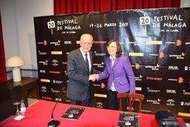 """La Junta muestra su apoyo """"pleno y decidido"""" al Festival de Cine de Málaga y será patrocinador de la 20 edición"""