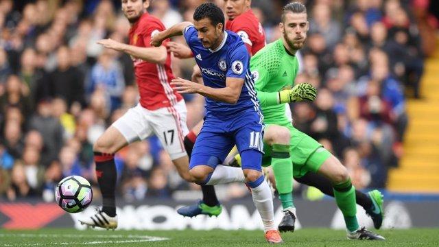 Pedro y De Gea en el Chelsea - Manchester United