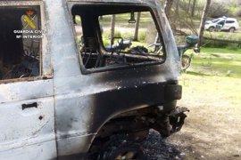 Cuatro detenidos en Aljaraque (Huelva) por su presunta relación con el robo de un vehículo que fue quemado