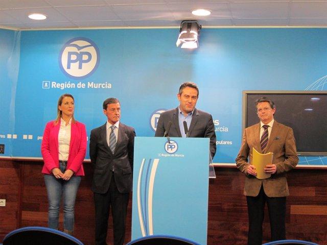 María Robles, Antonio Sánchez-Solís, Joaquín Buendía y Francisco Jódar