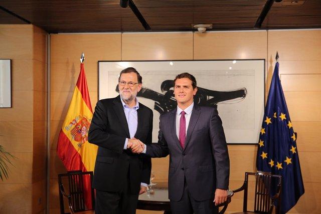 Reunión entre Rajoy y Rivera de 18 de agosto de 2016