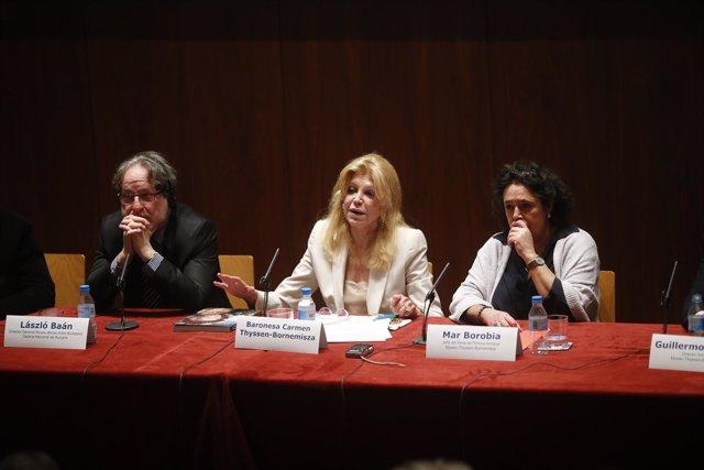 Carmen Thyssen en la presentación de la exposición Obras maestras de Budapest
