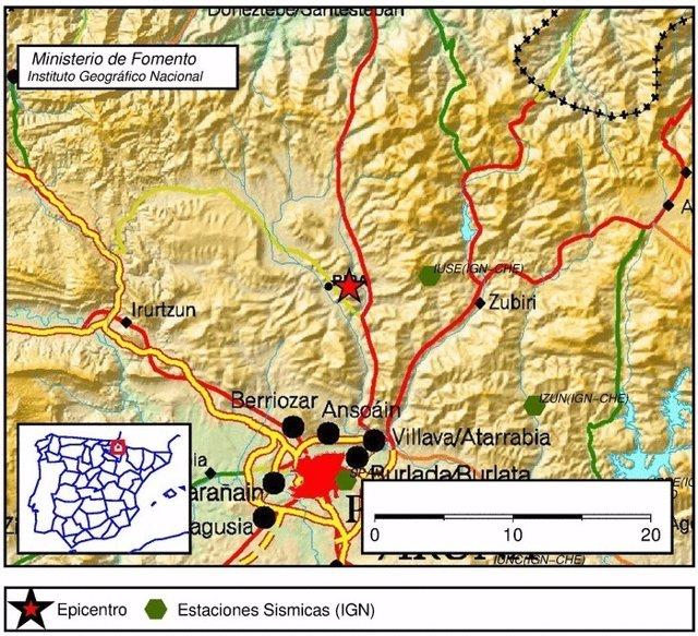 Terremoto en Navarra.
