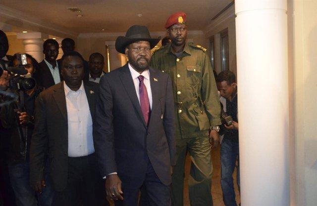 Salva Kiir, tras los acuerdos de Addis Abeba
