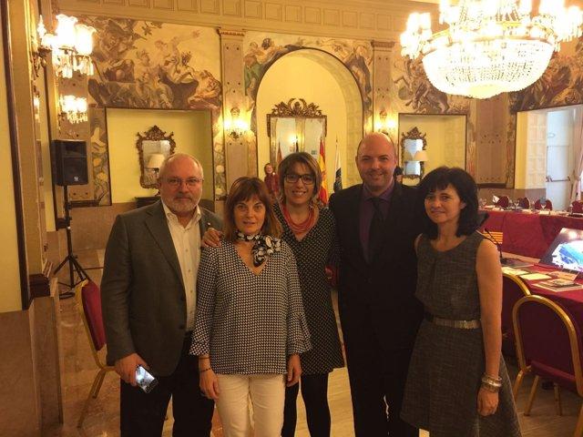 Gomila y Ferrando con Puig, Ibar y Matamoros