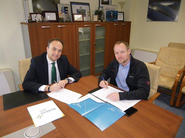Firma del acuerdo entre Redexis Gas y Ronal Ibérica, hoy en Teruel
