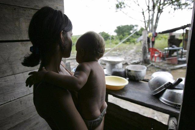 Desplazados por la violencia en Colombia