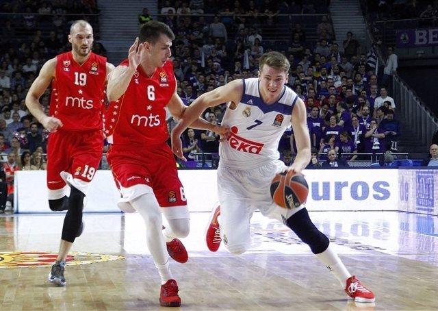 Luka Doncic en Euroliga ante Estrella Roja