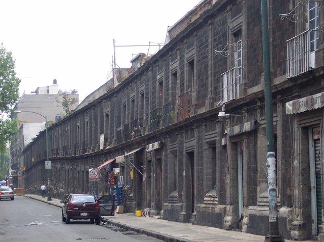 Muestra del hundimiento de Ciudad de México