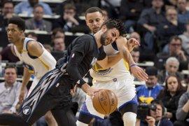 Ricky Rubio lidera el triunfo ante los Warriors con un 'doble-doble'
