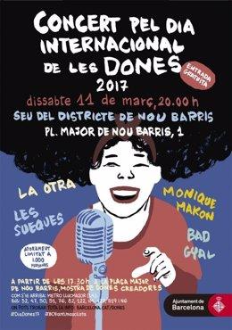 Cartel del concierto de este sábado en Nou Barris
