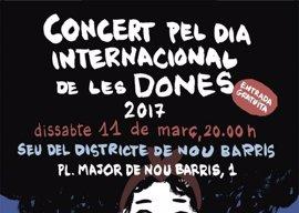 Barcelona celebra un concierto en Nou Barris por el Dia Internacional de las Mujeres este sábado