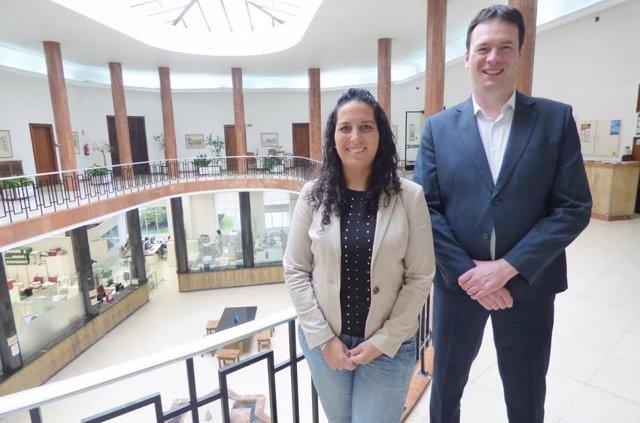 Cora Vielva y David González, concejales de C's en Santander