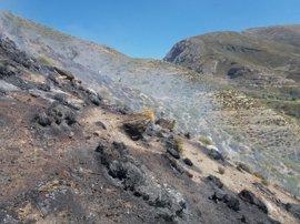 Declarado un incendio forestal principalmente de matorral en Güéjar-Sierra (Granada)