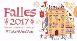 Una falla virtual se alzará el lunes en el Palau de la Generalitat