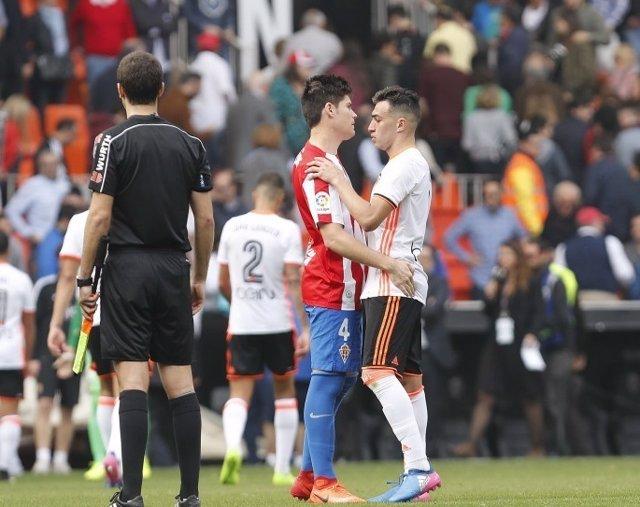 Munir Jorge Meré Valencia Sporting Gijón
