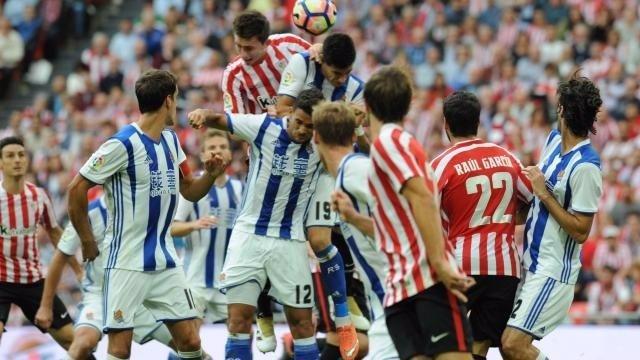 Derbi en San Mamés entre Athletic Bilbao y Real Sociedad