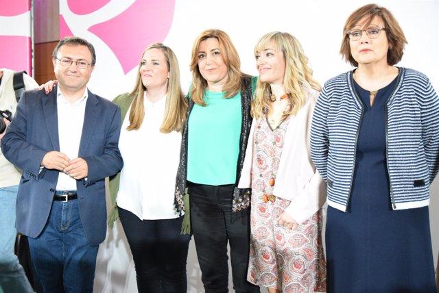 Susana Díaz en la entrega de los Premios Clara Campoamor