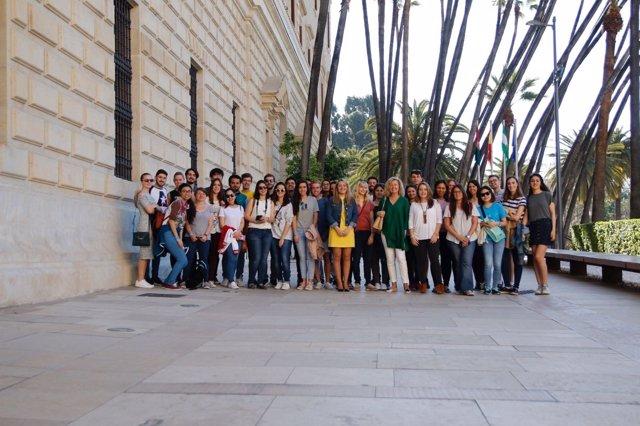 Erasmus en el Museo de Málaga con el IAJ