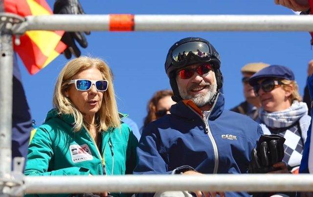 El Rey presencia la final de slopestyle de Sierra Nevada 2017
