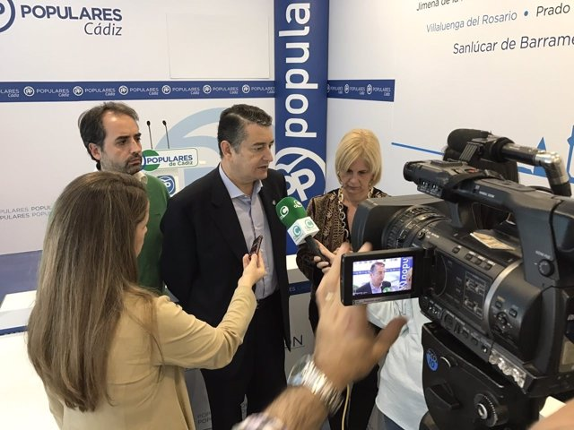 Antonio Sanz (PP) en el Comité de Dirección del PP de Cádiz