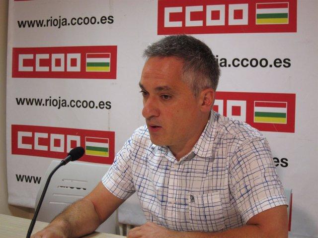 Jorge Ruano, secretario general de CCOO La Rioja
