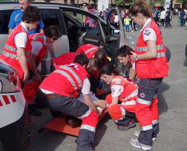 Dispositivo de la Cruz Roja en las Javieradas 2017