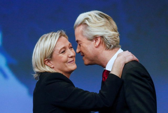 Marine Le Pen y Geert Wilders